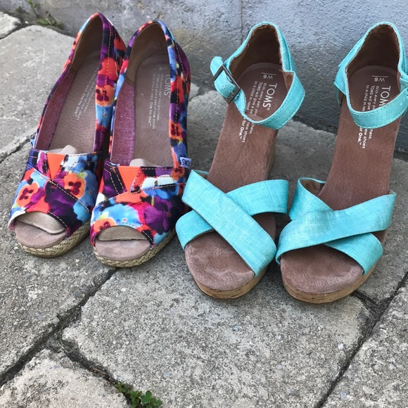 Toms summer sandals-size 6